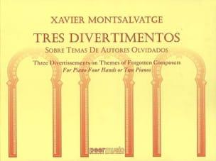 3 Divertimentos. 4 Mains - Xavier Montsalvatge - laflutedepan.com