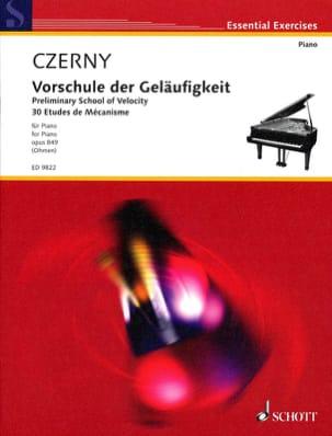 CZERNY - 30 Etudes de Mécanisme Opus 849 - Partition - di-arezzo.fr