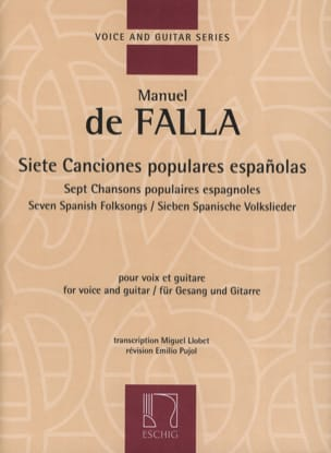 DE FALLA - 7 Canciones Populares Espanolas. - Sheet Music - di-arezzo.co.uk