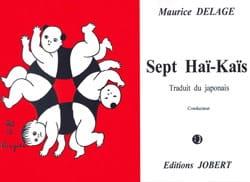 Maurice Delage - 7 Hai Kais. conductor - Partitura - di-arezzo.es