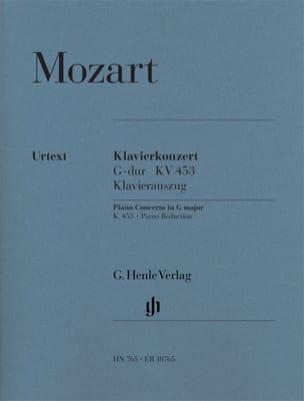 MOZART - Concerto Pour Piano N° 17 En Sol Majeur K. 453 - Partition - di-arezzo.fr