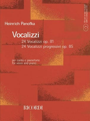 Heinrich Panofka - Vocalizzi Opus 81 et 85 - Sheet Music - di-arezzo.co.uk