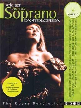 Arie Per Soprano Volume 5 Partition Opéras - laflutedepan