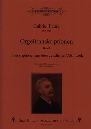 Gabriel Fauré - Transcriptions pour orgue volume 1 - Partition - di-arezzo.fr