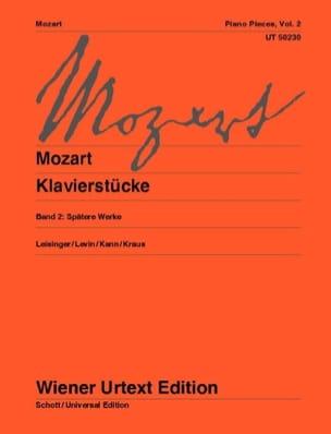 MOZART - Klavierstücke Volume 2 - Partition - di-arezzo.fr