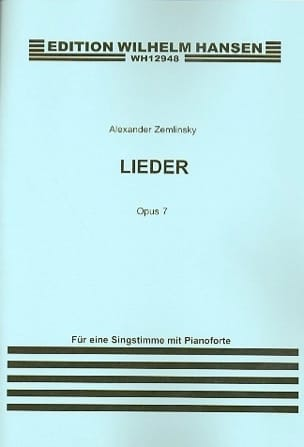 Alexander Zemlinsky - Lieder Op. 7 - Sheet Music - di-arezzo.co.uk
