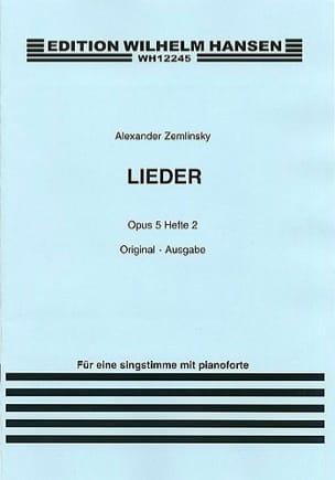 Lieder Op. 5 Volume 2. Voix Moyenne. - laflutedepan.com