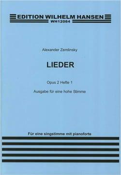 Lieder Op. 2 Volume 1. Voix Haute ZEMLINSKY Partition laflutedepan