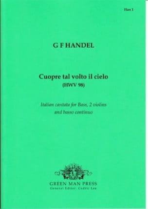 HAENDEL - Cuopre Tal Volto il Cielo HWV 98 - Partition - di-arezzo.fr