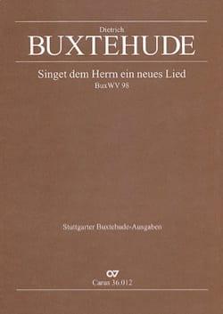 Dietrich Buxtehude - Singet Dem Herrn Ein Neues Lied Buxwv 98 - Partition - di-arezzo.fr