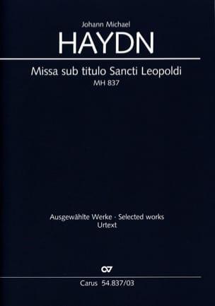 Michael Haydn - Missa Sub Titulo Santi Leopoldi Mh 837 - Partition - di-arezzo.fr