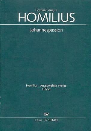 Johannespassion Howv 1-4. Gottfried August Homilius laflutedepan