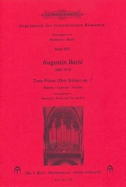 Augustin Barié - 3 Pièces op. 7 - Partition - di-arezzo.fr