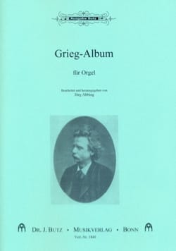 Grieg-Album GRIEG Partition Orgue - laflutedepan