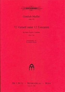 72 Verseti Samt 12 Toccaten Gottlieb Muffat Partition laflutedepan