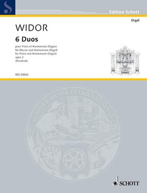Charles-Marie Widor - 6 Duets Piano and Harmonium - Partition - di-arezzo.co.uk