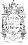 Jacques Offenbach - Bagatelle - Partition - di-arezzo.fr