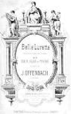 Belle Lurette - Jacques Offenbach - Partition - laflutedepan.com