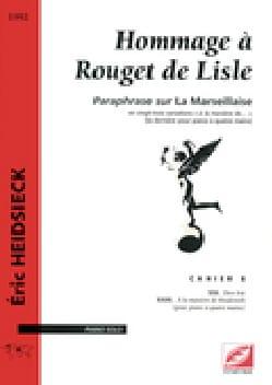Hommage A Rouget de Lisle Cahier 8 Eric Heidsieck laflutedepan
