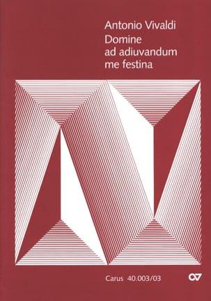VIVALDI - Domine Ad Adiuvandum me Festina RV 593 - Partition - di-arezzo.fr
