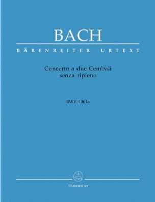 Concerto A 2 Cembali BWV 1061a BACH Partition Piano - laflutedepan