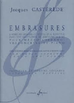 Jacques Castérède - Embrasures - Partition - di-arezzo.fr