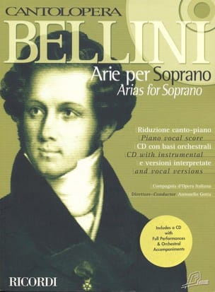 Vincenzo Bellini - Arie Per Soprano - Sheet Music - di-arezzo.co.uk