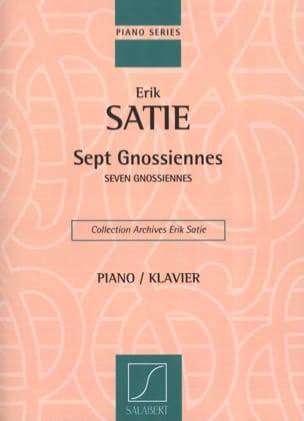 7 Gnossiennes SATIE Partition Piano - laflutedepan