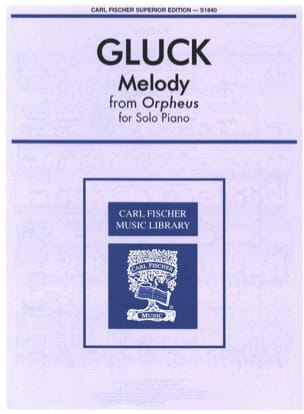 GLUCK - Melody From Orpheus - Sheet Music - di-arezzo.co.uk