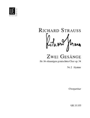 2 Gesänge Op. 34-2. Hymne Richard Strauss Partition laflutedepan