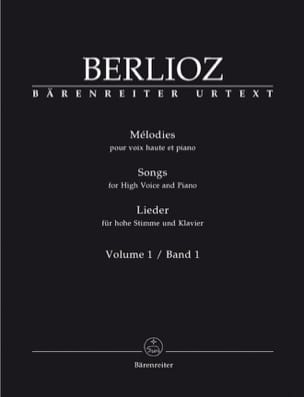 Mélodies Volume 1. Voix Haute BERLIOZ Partition laflutedepan