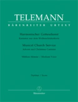 Georg Philipp Telemann - Harmonischer Gottesdienst Volume 1 Mean Voice - Sheet Music - di-arezzo.co.uk