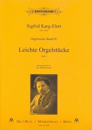Leichte Orgelstücke Volume 2 Sigfrid Karg-Elert Partition laflutedepan