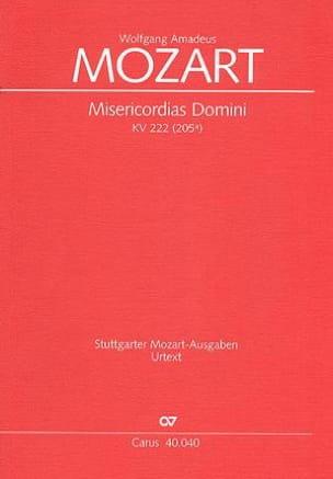 MOZART - Misericordia Domini KV 222 (205a). Conducteur - Partition - di-arezzo.fr