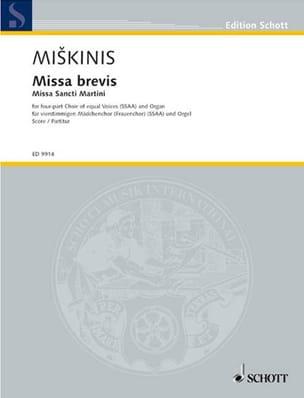 Vytautas Miskinis - Missa Brevis - Partition - di-arezzo.fr