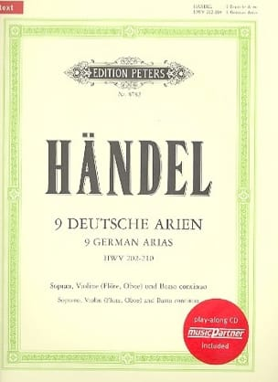 9 German Arias, HWV 202-210 HAENDEL Partition Violon - laflutedepan