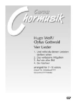 4 Lieder - Wolf Hugo / Clytus Gottwald - Partition - laflutedepan.com