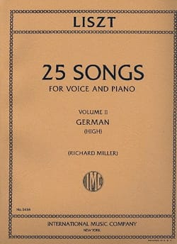Franz Liszt - 25 Songs Volume 2. High Voice - Sheet Music - di-arezzo.co.uk