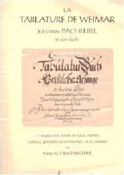 La Tablature de Weimar PACHELBEL Partition Orgue - laflutedepan