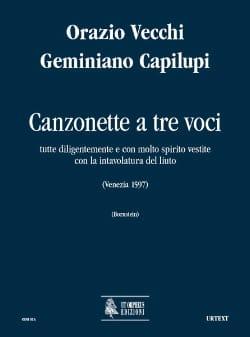Vecchi Orazio / Capilupi Geminiano - Canzonette A 3 Voci. Matériel - Partition - di-arezzo.fr