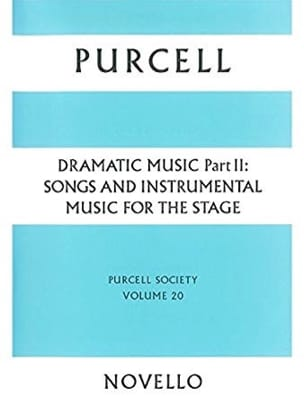 Dramatic Music Volume 2 Henry Purcell Partition laflutedepan