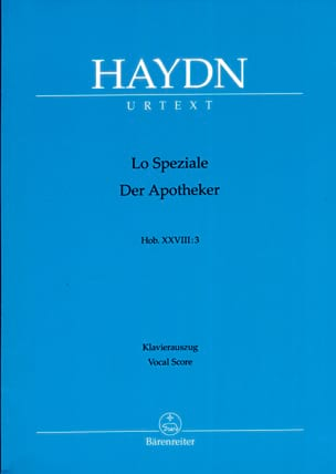 HAYDN - Lo Speziale Hob 28-3 - Partition - di-arezzo.fr
