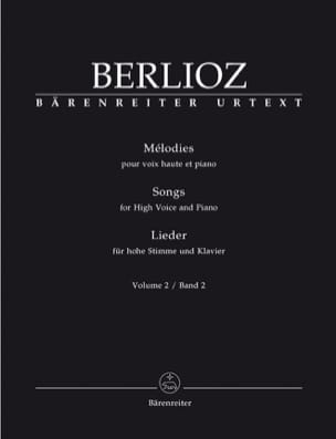 BERLIOZ - Volume melodies 2. High voice - Sheet Music - di-arezzo.co.uk