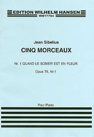 Jean Sibelius - Quand le Sorbier Est En Fleur Op. 75-1 - Partition - di-arezzo.fr