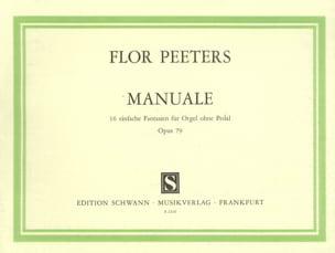Manuale, 16 Einfache Fantasien Für Orgel Op. 79 - laflutedepan.com