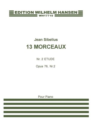 Etude Opus 76-2. SIBELIUS Partition Piano - laflutedepan