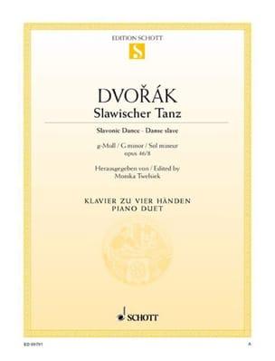 Anton Dvorak - Slawischer Tanz Op. 46-8 - Partition - di-arezzo.fr