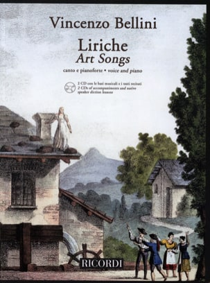 Liriche + 2 CD - BELLINI - Partition - Mélodies - laflutedepan.com