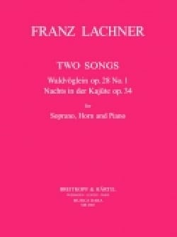 Franz Lachner - 2 Songs - Partition - di-arezzo.fr