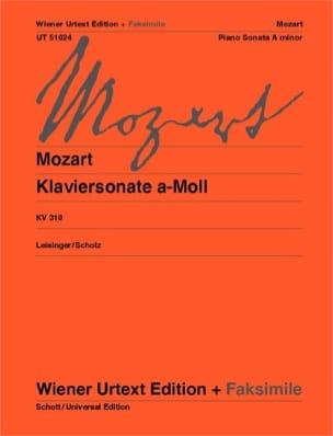 Sonate K 310 + Fac Simile - MOZART - Partition - laflutedepan.com